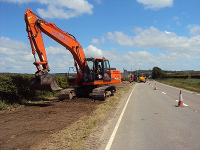 Wiston Solar Farm HV Cable Trench